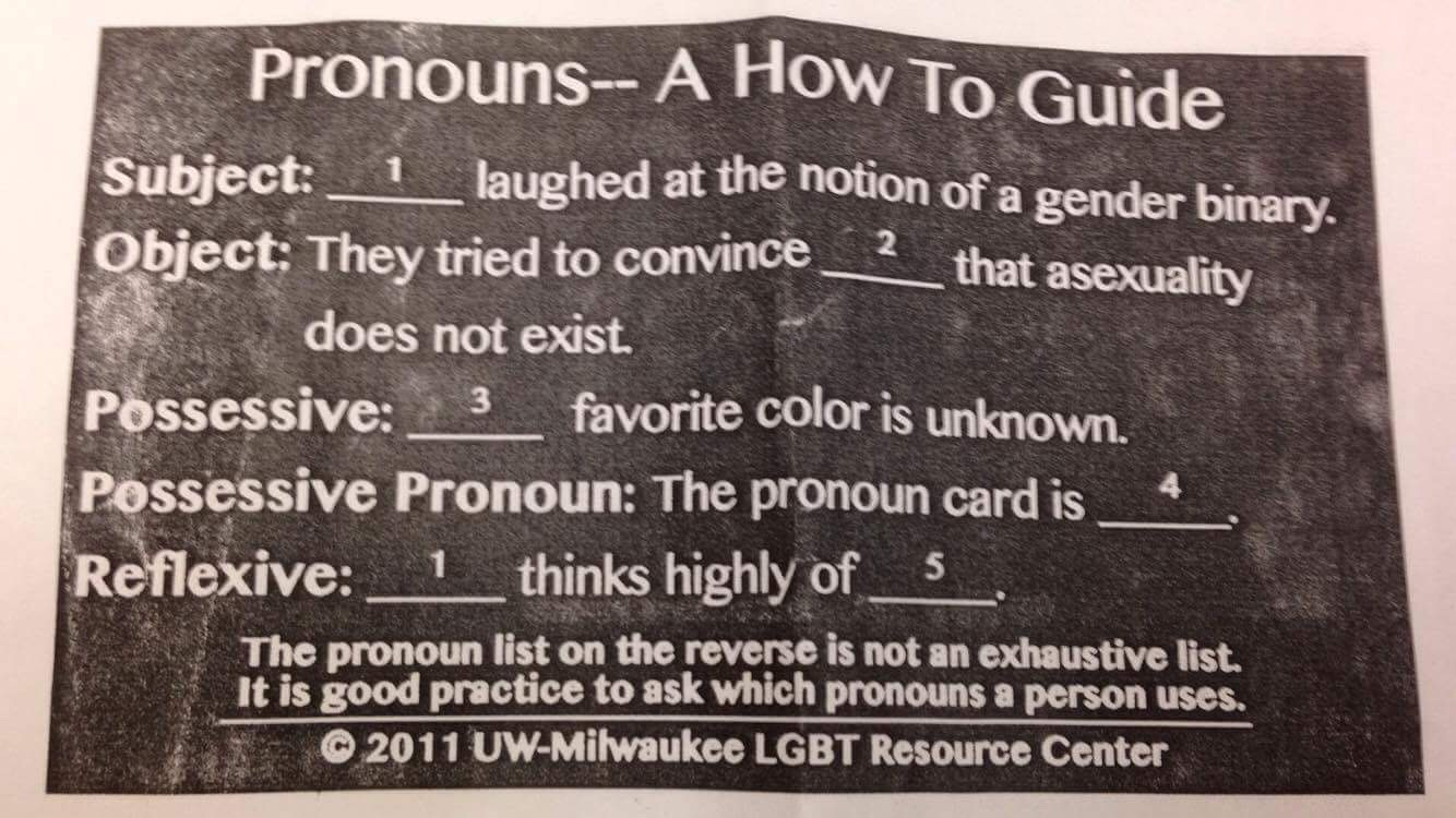 high school health class pronouns